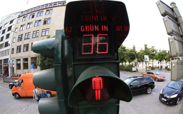 Countdown-Ampel Hamburg